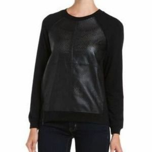 Aiko Lillith Leather Front Python Sweater XS